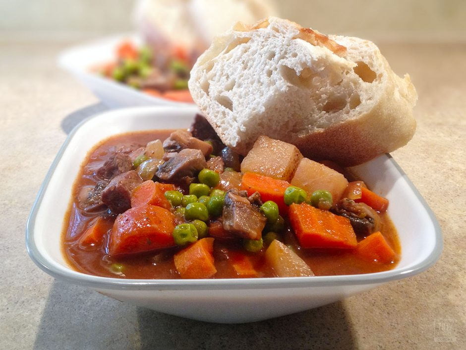 Classic beef stew with potatoes is an excellent cold weather comfort food. This easy beef stew recipe will warm your bones and fill your belly!   Tiny Kitchen Cuisine   https://tiny.kitchen