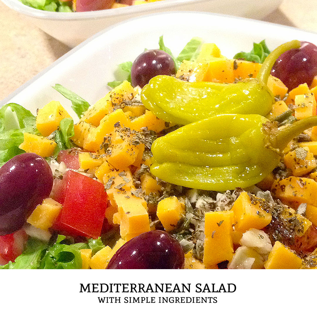This mediterranean salad recipe is a tasty summer salad that uses the bright flavors found in greek food. This simple healthy recipe is great as a lunch idea or a light dinner!   Tiny Kitchen Cuisine   https://tiny.kitchen