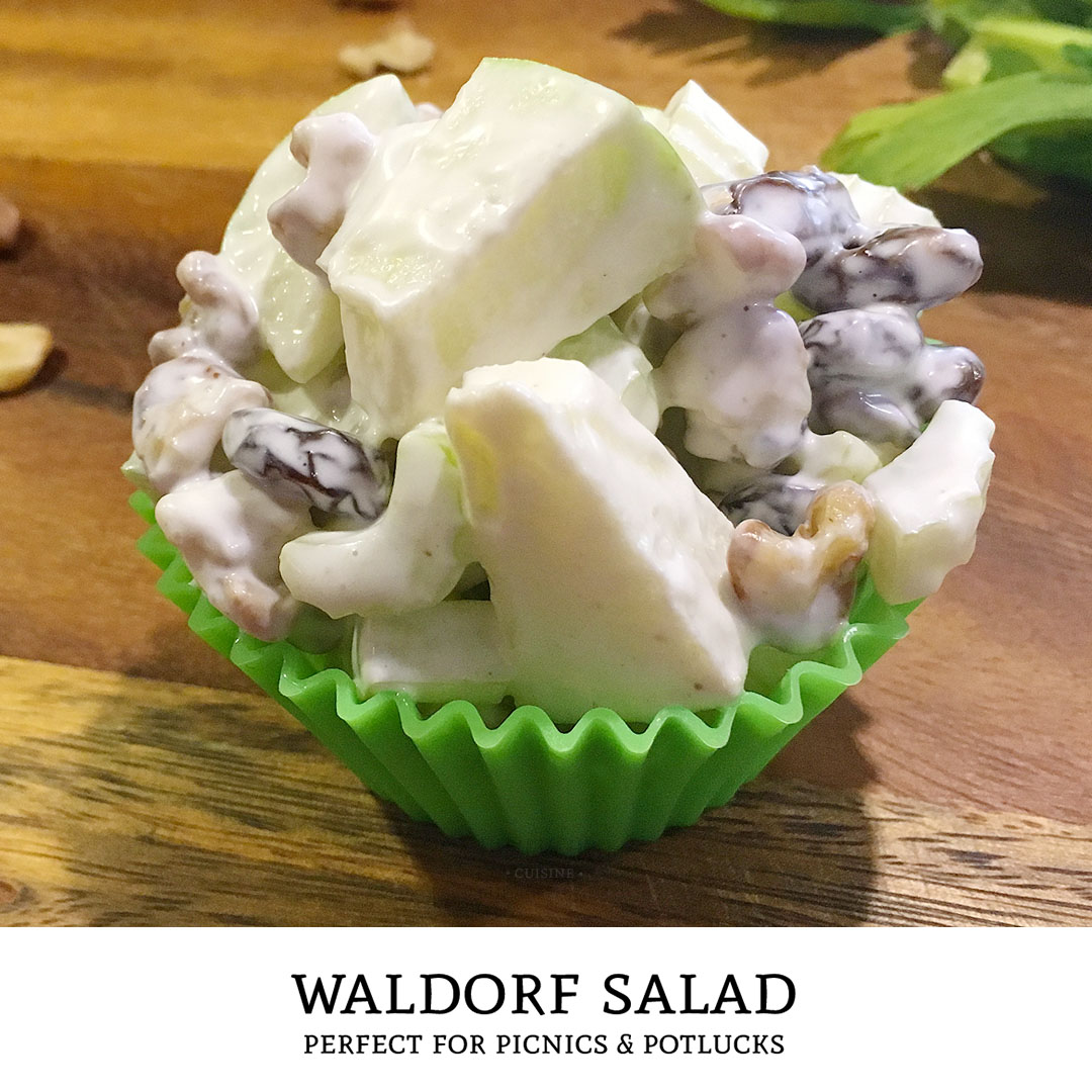 Sweet, tart, and crunchy! This classic waldorf salad recipe is the perfect side dish to bring along for your next potluck or picnic.   Tiny Kitchen Cuisine   https://tiny.kitchen