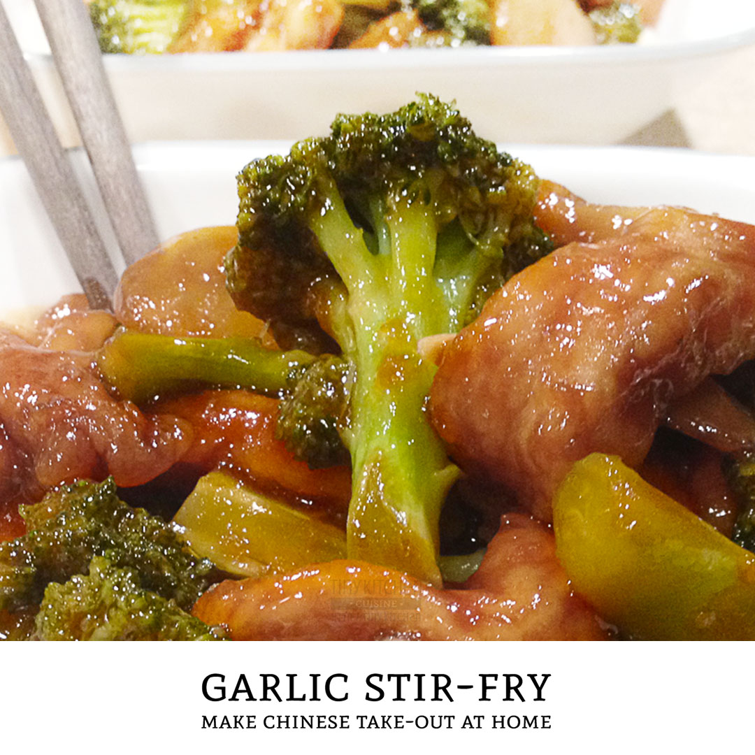 Love chinese take-out and want to make it at home? This brown garlic sauce is an excellent base for any combination of stir-fry dinners. | Tiny Kitchen Cuisine | https://tiny.kitchen